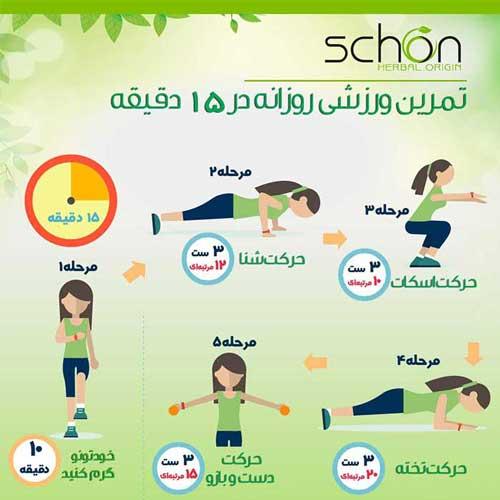 تمرینات ورزشی مناسب
