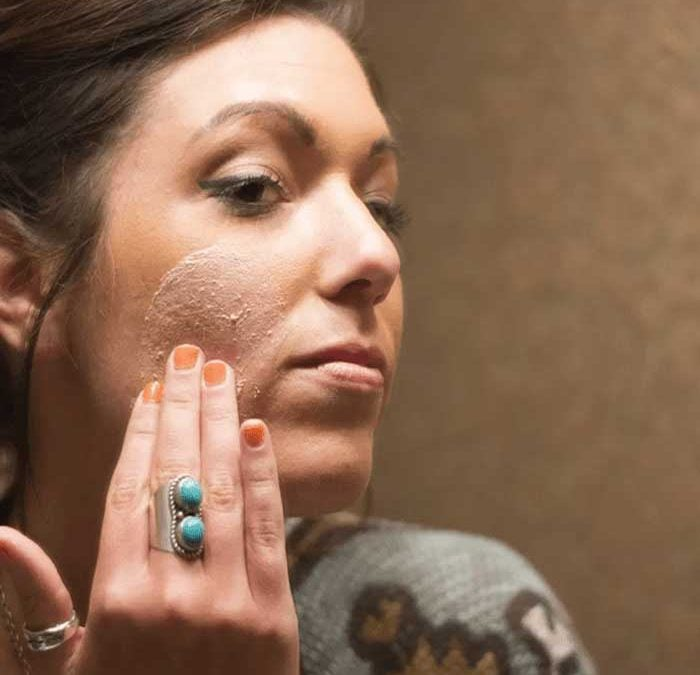 How to make skin younger using scrub