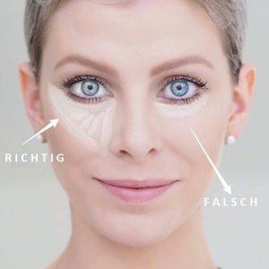 روش استفاده از کانسیلر بدون چروک شدن پوست اطراف چشم