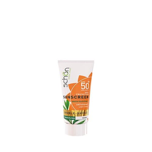 ضد آفتاب پوست خشک دابل شیلد شون SPF 50 بی رنگ