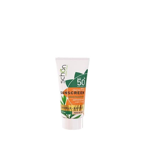 ضد آفتاب پوست چرب دابل شیلد شون SPF 50 رنگی